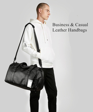 Fashion Business Mens Travel Bags Luggage Waterproof Black Duffel Bag Outdoor Large Capacity High Quality PU Leather Handbags