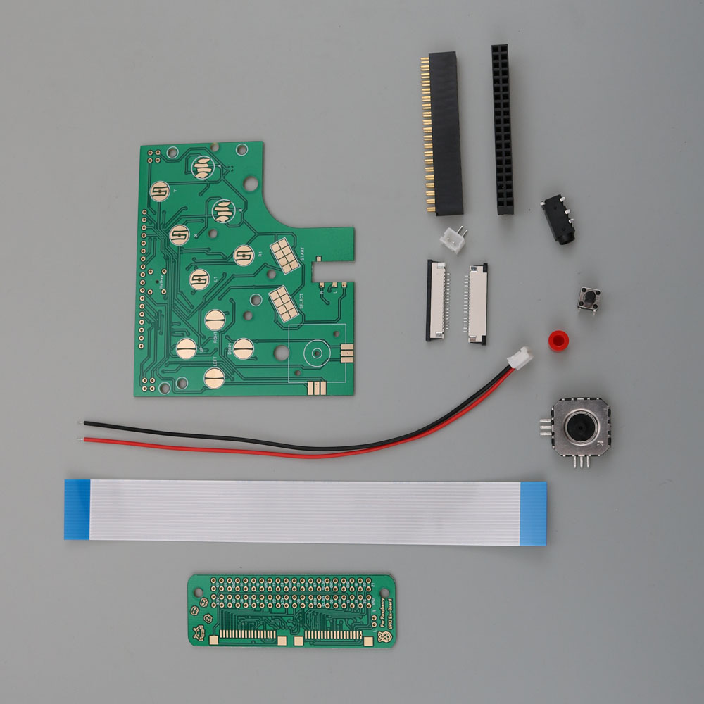 Image 4 - ChengHaoRan 6 Buttons PCB Board Switch Wire Connector Kit For Raspberry Pi GBZ For Game Boy GB Zero DMG 001-in Replacement Parts & Accessories from Consumer Electronics