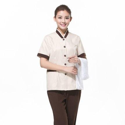 Pantalon Ménage Personnel 10 Vêtements La Uniformes Nounou Serveur T De Femme Travail Pa shirt Femmes Chemises Propres Et Costumes Ensemble 8zw4IqA