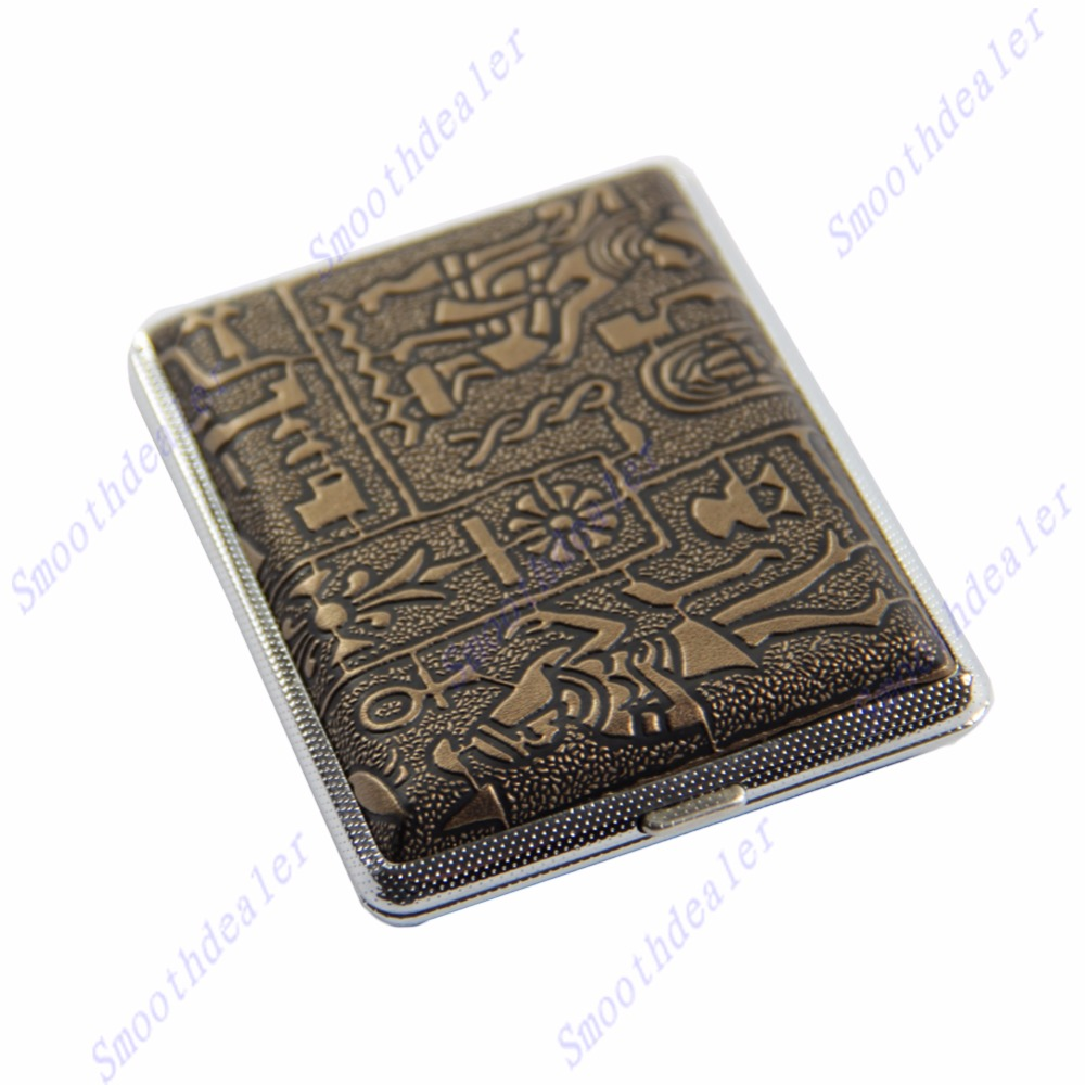 Mettle High Quality Men's Cigarette Case with Gift Box for 16pcs Vintage Metal Cigarette Box on Sale