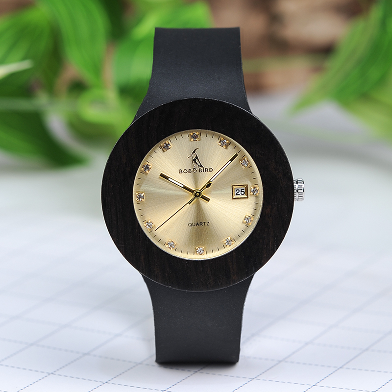 Watches Women Wooden Bobo Bird Relogio Feminino Genuine-Leather Paper With Gift-Box B-C03