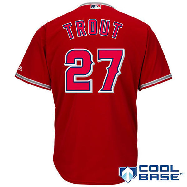 d7c03c258da ... discount code for mlb mens los angeles angels mike trout baseball  scarlet alternate cool base player ...