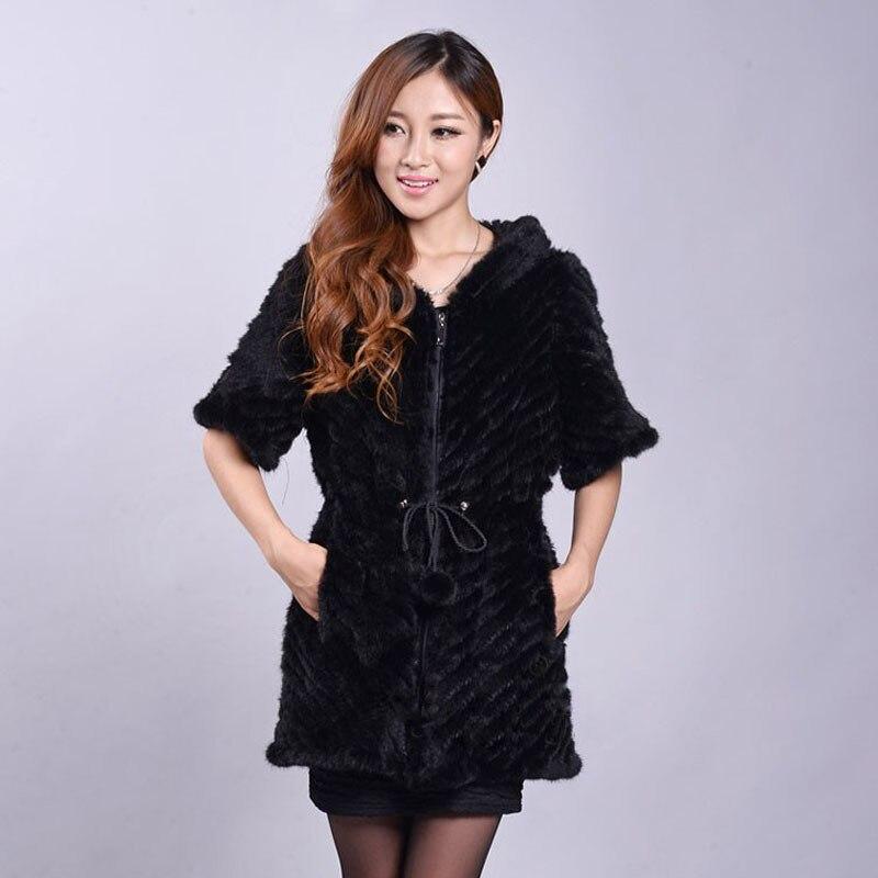 Women winter coat female genuine mink fur outerwear fashion lady real mink fur coat clothing free shipping