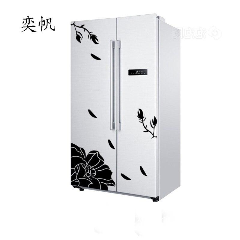 One Set High Quality Magnolia Flower Refrigerator Sticker Wall stickers Home Decor Wall Decals Art Mural Poster Adesivo De Pared