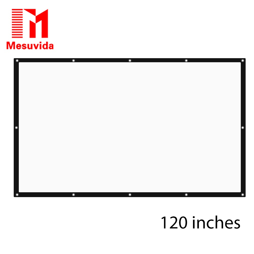 120 Inch 16:9 HD Projector Screen Portable Folded Front Projection Screen Fabric with Eyelets without Frame For UNic UC46 UC40 h60x 2016 everyone gain 60 inches 16 9 projector hd screen portable folded pantalla proyector with frame convenient to carry