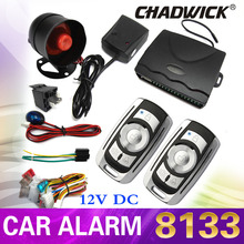 CHADWICK 8133 Quality car alarm system remote control keyless entry central door locking with siren anti-theft key device 12V DC