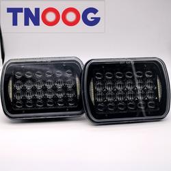 """Tnoog 2 шт. 6x7 дюймов 5D светодиодные фары 72 Вт 5x7 """"светодиодные фары с DRL привет/ближнего света в горошек E9 знак лампа H4 разъем для Jeep Грузовик"""