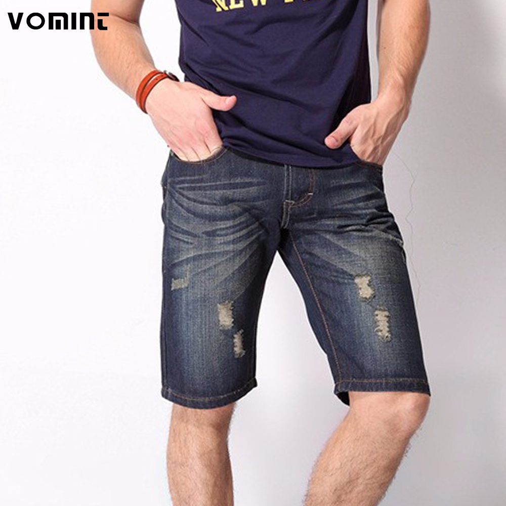 Men Jeans Short-Pants Holes Men's Casual Fashion Summer S6CS026 Hot-Sale