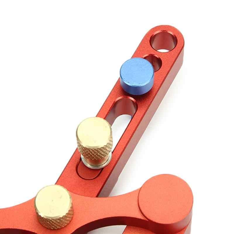 """DANIU מרכוז עצמי חדש לנענע Dowelling דובל מטרי יד סט כלים לעיבוד עץ קידוח 6/8/10 מ""""מ סגסוגת אלומיניום"""