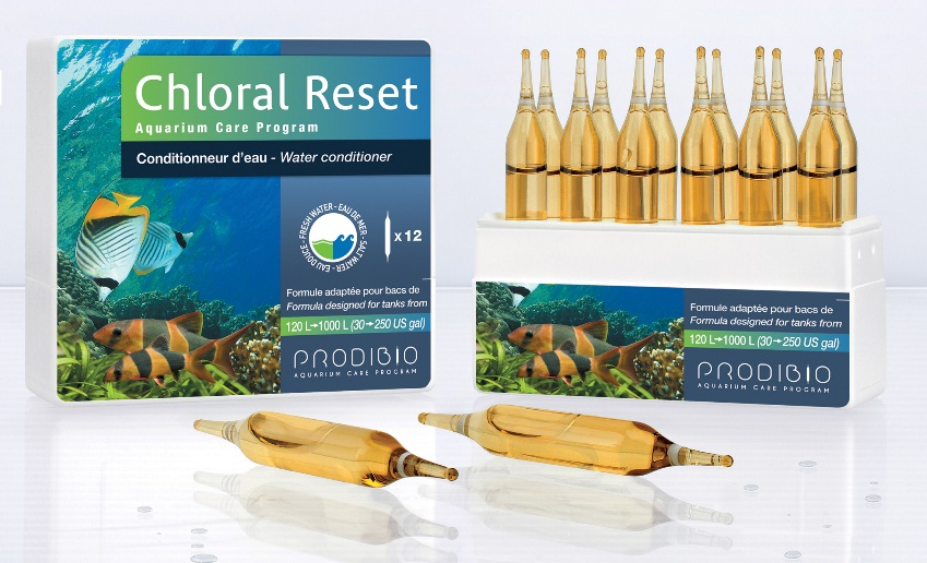 Prodibio chloral reset for aquarium marine saltwater and for Fish tank rock cleaner