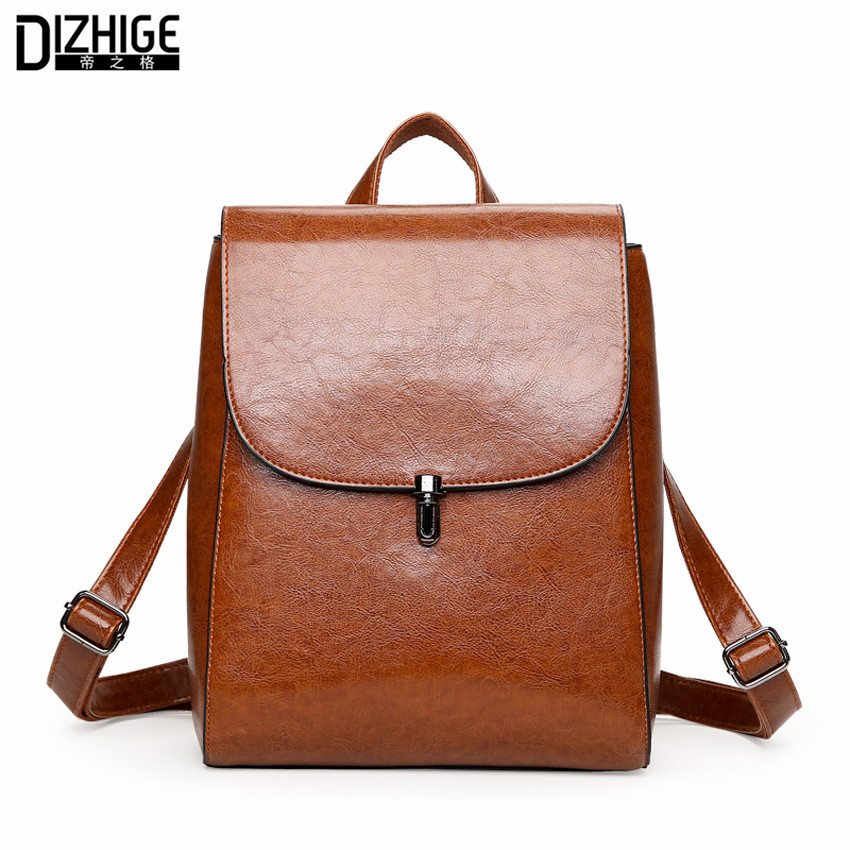 Fashion Woman Backpack 2017 Leather Brands Female Backpacks High Quality Schoolbag Backpack Elegant Mochilas Escolar