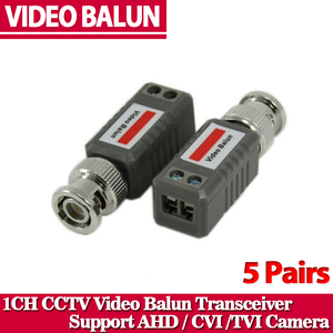CCTV Twisted BNC 1Channel Passive TVI CVI AHD Video Balun Transceiver 10Pcs /Lot COAX CAT5 Camera UTP Cable Coaxial Adapter(China)