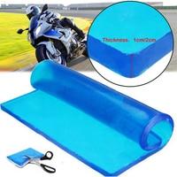Motorcycle Seat Gel Pad Shock Absorption Mat Comfortable Soft Cushion Motorbike Scooter Motor Bike Modified Seat Pads Blue Pad