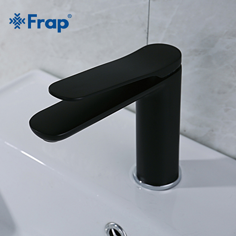 FRAP Modern Style Bathroom Matte Black Basin Faucet High Quality Cold and Hot Bathroom Sink Faucet Single Handle Water TapY10128FRAP Modern Style Bathroom Matte Black Basin Faucet High Quality Cold and Hot Bathroom Sink Faucet Single Handle Water TapY10128
