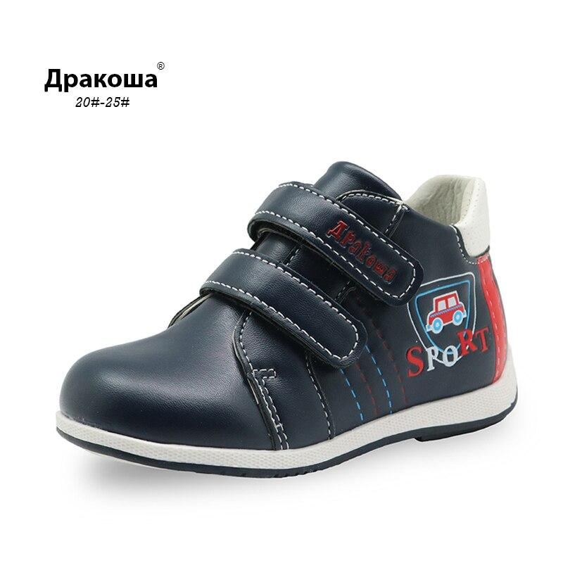 Apakowa Toddler Boys Boots New 2017 Spring Autumn Handmade Comfortable Boys Boots Fashion Kids Boots Children Shoes Fashion