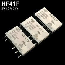 Relé do hf HF41F 24 ZS HF41F 12 ZS HF41F 5 ZS (555) 6a 1co hf41f 5v 12v 24v relé da bolacha novo e original