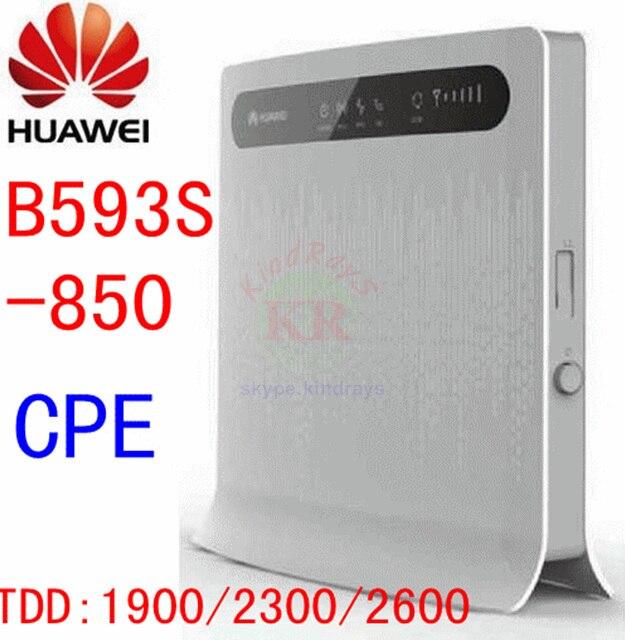 Unlocked HUAWEI B593S-850 b593 4G LTE wireless router TDD 4g wifi mobile hotspot 3g 4g mifi dongle cpe pk b880 e5172 b890 b593