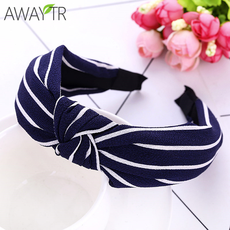 New Fashion Cloth Printing Bow Hair Cross Wide Side Headband Girl Hairbands Printing Hair Hoop Bow Cross Hair Accessories