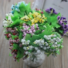 10 units / a bunch of fake wreaths DIY pearl headdress small berries decorated flowers free shipping