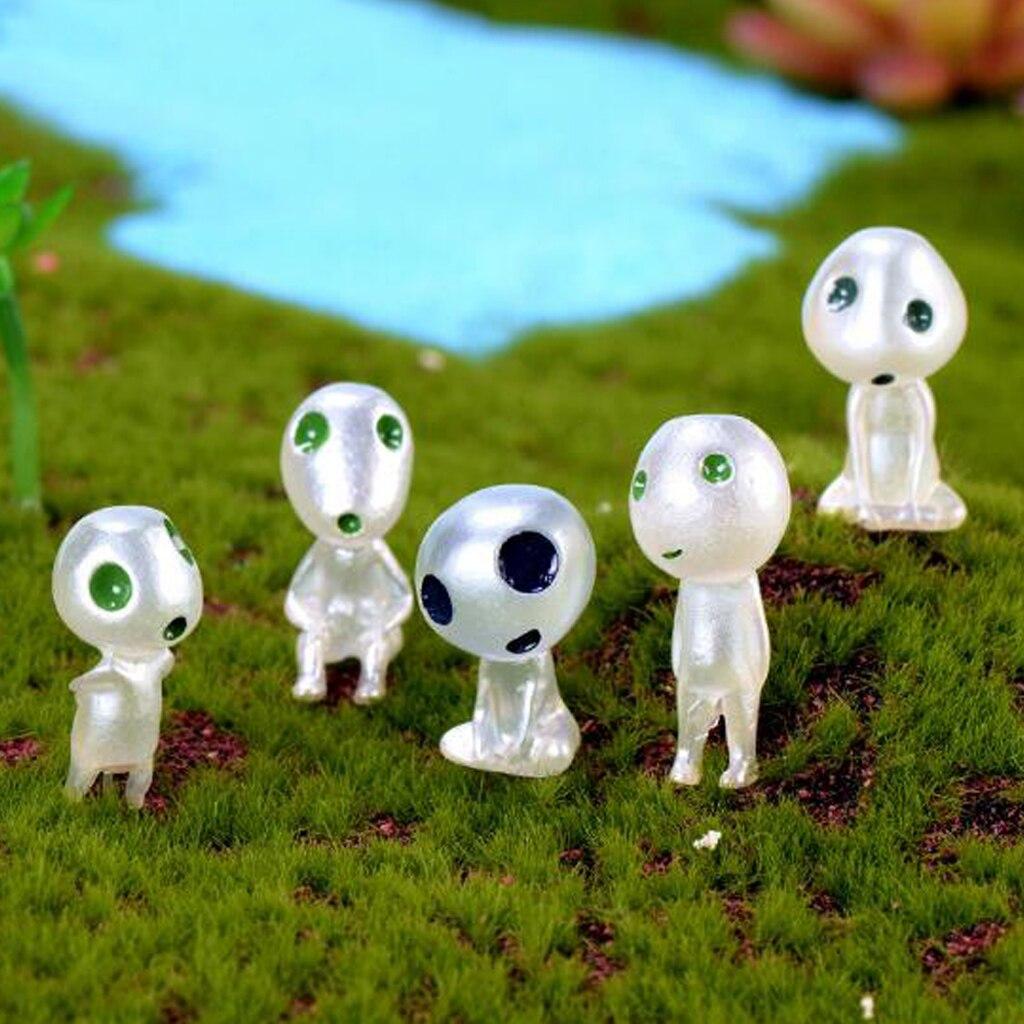 10Pcs Miniature Bonsai DIY Resin Crafts Terrarium Figurine Fairy Garden Ornament Luminous Tree Elves Doll Decor