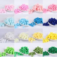 Pompones iSequins Pompom 10mm 15mm Macio Fluffy Plush Furball Pom Poms Bola Home Decor Artesanato DIY Costura Suprimentos(China)
