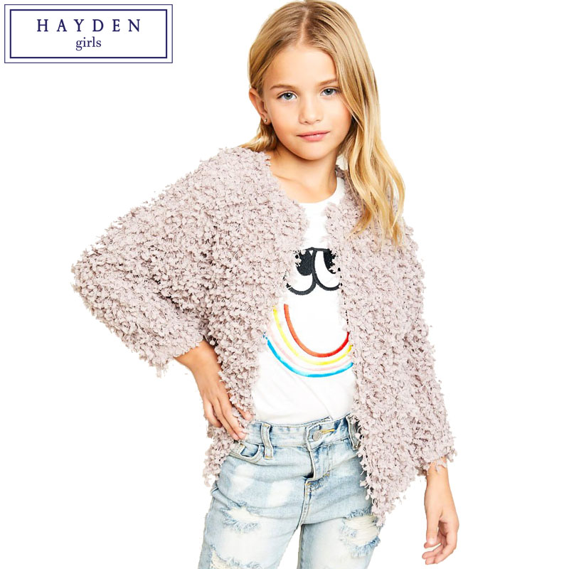 HAYDEN Girls Cardigans 7 8 9 10 11 12 13 14 Years Big Teenage Girls Textured Cardigan 2018 Spring New Brand Clothes for Children crescent bend touch frequency vibration bar female masturbation tongue oral sex adult sex toys vibrators