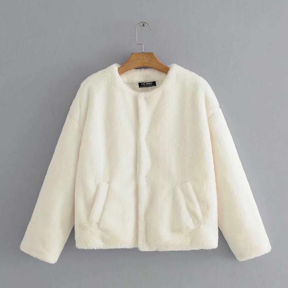 Jackets & Coats Women's Clothing Fashion Women Week 9-60-9792 European Fashion Vogue Fur Coat Comfortable Feel