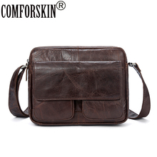 COMFROSKIN Men Leather Cross-body Bag Large Capacity 100% Genuine Messenger Bags New Arrivals Cover Style Man