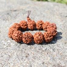 Классические бусы из плодов рудракши мужские браслеты ручной работы с изображением Будды, для медитации буддизма деревянные браслеты мужские байкерские молитвенные ювелирные изделия Pulsera подарок