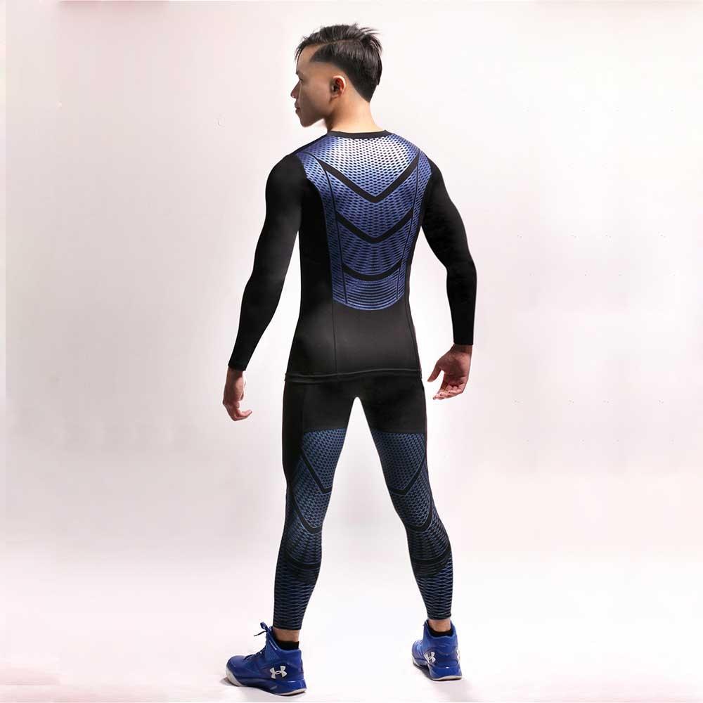 Long Sleeve Sport Shirt Men Quick Dry Mens Running T-shirts Snake Gym Clothing Fitness Top Mens Rashgard Soccer Jersey UX36