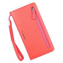 Wallet Women's multi color Double Zippers Purse Female Wallets card bits iphone Handy Bags Pocket Women Wallets clutchs