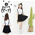 Hot Game 2016 New Arrival Neko Atsume Cosplay Costume Cute Cat Thicken cute Lolita maid costume skirt + shirt set