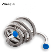 Zhangji – tuyau de douche flexible chiffré en acier inoxydable de haute qualité, tuyau de douche Anti-fissure de 1.4 mètre, tuyau d'eau de plomberie