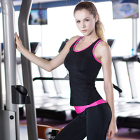 Yuerlian US Local Delivery 3 PCS Sport Yoga Shirt Sleeveless Sportswear Blouses Running Vest Workout Crop Top Female T shirt