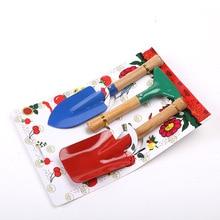 Garden Tool Toys 3pcs/Set Spade Shovel Rake Boys Toys Planting Tools Kids Sand Beach Toys Pretend Playset Outdoor Gardening Toy цена