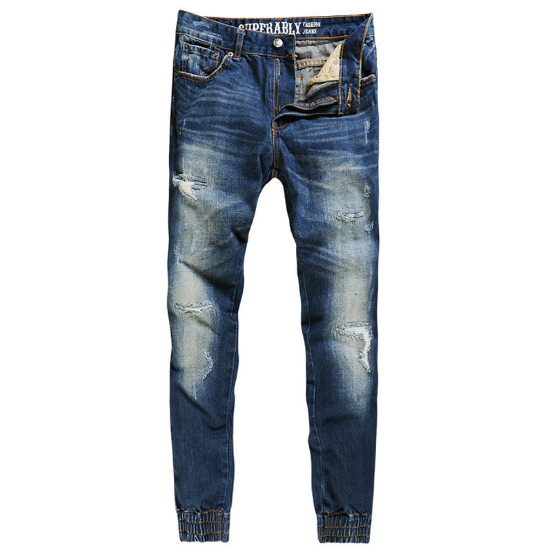 Superably Brand Fashion Mens Jeans Casual Pants Blue Color Denim Jogger Jeans Trousers Youth Stylish Streetwear Ripped Jeans fei dai and ming lu applied close range photogrammetry in construction