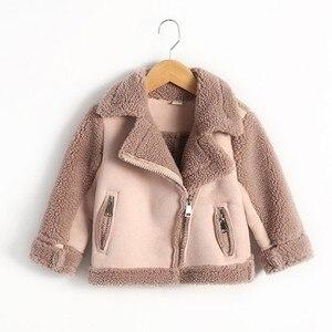 Image 4 - Nieuwe Meisjes En Jongens Jassen Winter Fur fleece jassen Unisex kids Uitloper Meisjes Jas 7CT069