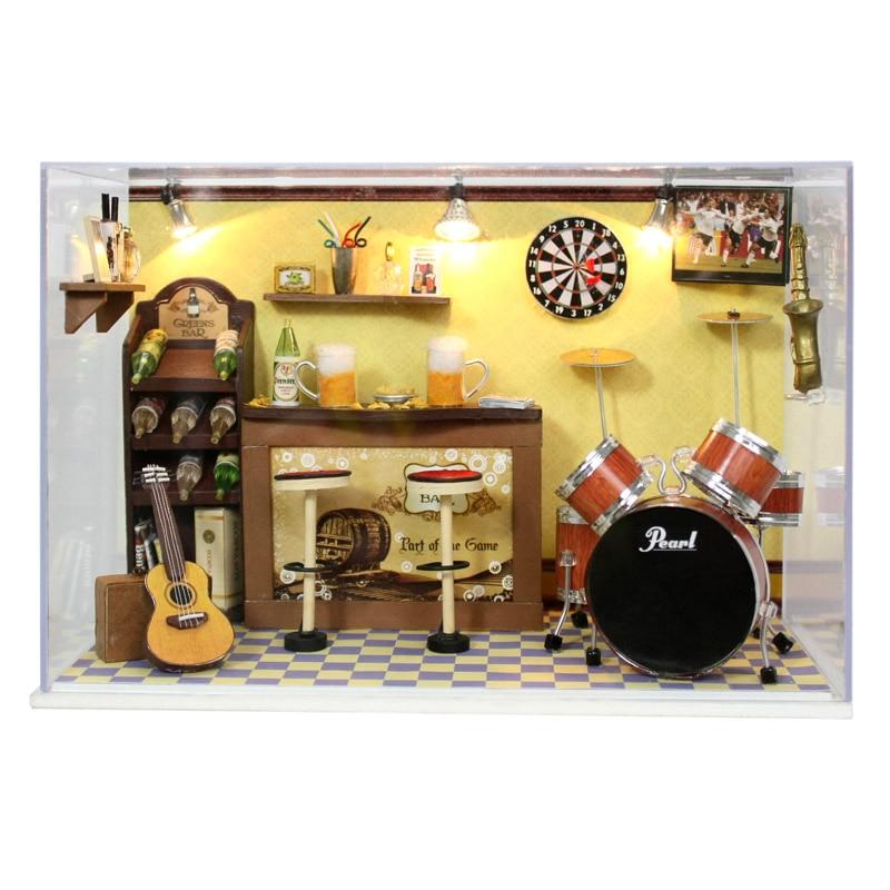 Handmade Miniatura Wooden Music Room Box Assemble