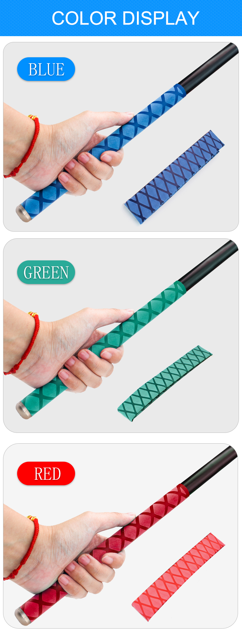 0 2M Non slip Heat Shrink Wrap Tubing Fishing Rod DIY 5 colors Handle Insulation Waterproof Racket Handle Grip in Cable Sleeves from Home Improvement