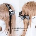 Princesa lolita dulce Horquilla del bowknot Manual de accesorios para el cabello horquilla DIY nota El oso de venda del pelo bang clip plato hairGSH065
