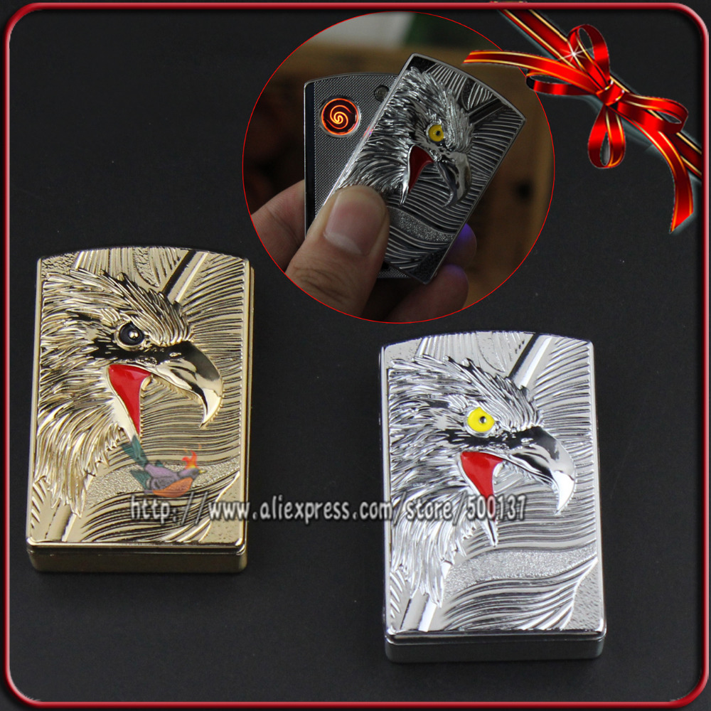 FIREDOG Goshawk Head Design Rechargeable Windproof Flameless Cigar Cigarette Metal Electric USB Lighter