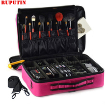 RUPUTIN Brand Female Professional Makeup Bag Travel Women Be