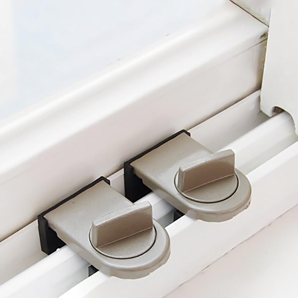 2 PCS Sliding Sash Stopper Cabinet Locks Straps Doors Security Anti-Theft Lock Window Sliding Door Baby Kids Child Safety Doors Lock