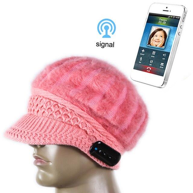 Рождественский подарок! новое Поступление Bluetooth шапка Шапка Шапка Вязаная Зимняя Магия громкой Музыки mp3 Hat для Девушку Смартфонов