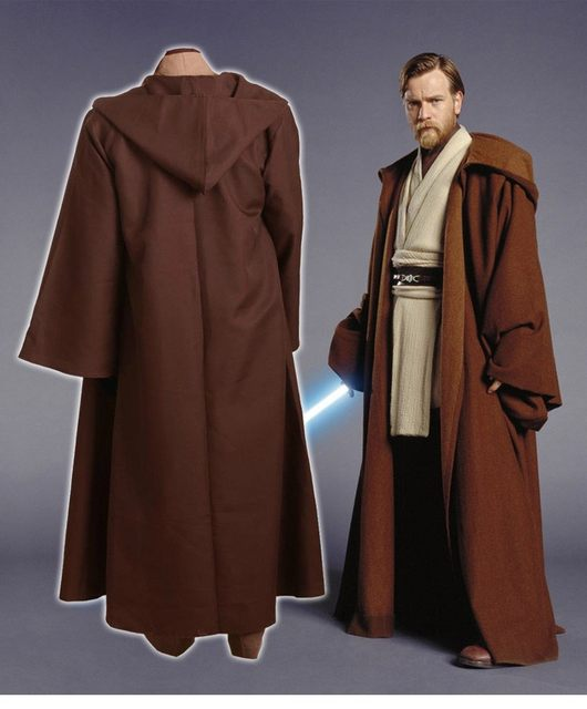 force awakens adult uniform cloak coat white tunic star wars whole set obi wan kenobi halloween adult kids cosplay costumes