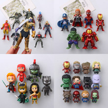 Home Decoration Cute Avengers Refrigerator Stickers Spider-Man Raytheon Iron Man 3D Creative PVC Magnetic Stickers Message Posts(China)