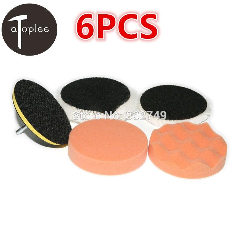 "Atoplee 6Pcs 4"" High Gross Buffer Polishing&Buffer Pad"
