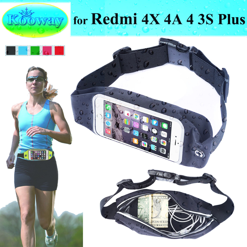 7baf223845 Waterproof Waist Band Case Running Bag for Redmi 4 MSM8940 4X 4A 3S Plus GYM  Workout Sport Casual Case Wallet Belt Pouch Cover-in Phone Pouch from ...