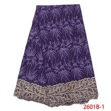 Африканское швейцарское кружево ткань лучшие продажи африканские платья с камнями высокого качества хлопок кружева для свадьбы KS2601B-1