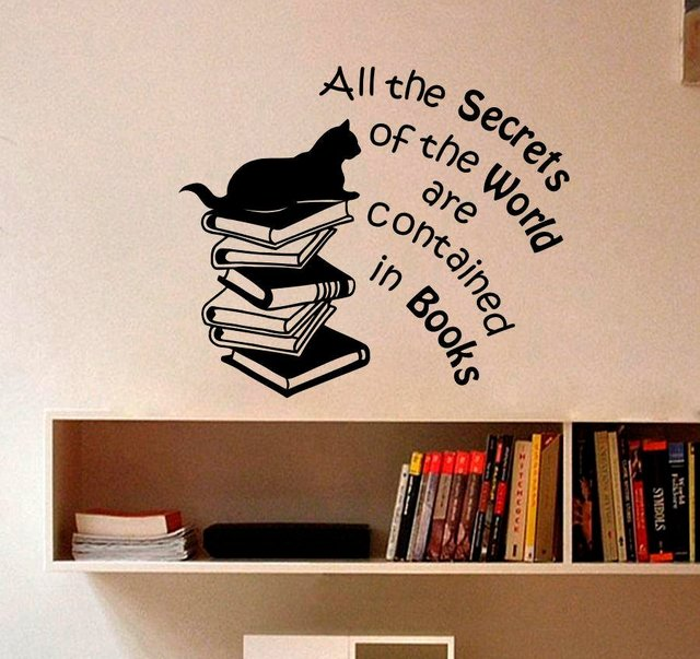 book quotes art wall decal vinyl sticker for kids room reading store